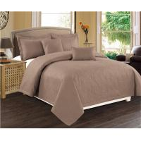 Buy cheap Solid Color Quilts 5pcs 100% Polyester Bedding Set Cotton Touch Feel from wholesalers