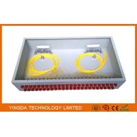 """Buy cheap 2U Rack Patch Panel Metal FC ST , 48 Ports Fiber Optic Patch Panel 19"""" ODF Fully Load from wholesalers"""