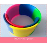 Buy cheap segmented Wholesale custom cheap reflective silicone slap bracelet with high quality from wholesalers