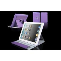 Buy cheap Women Leather Tablet Case 360 Rotation Purple Apple iPad Protection Case from wholesalers