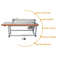 Buy cheap Long Arm DP*17 Needle Lockstitch Industrial Flat Bed Sewing Machine from wholesalers