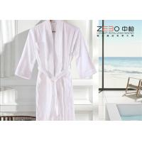 Buy cheap Eco Friendly White Waffle Bathrobe / Terry Cloth Bathrobe Good Hand Feeling from wholesalers