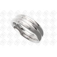 Buy cheap Hand Burnished Stainless Steel Wedding Rings Engraveable For Women from wholesalers