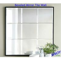 Buy cheap Decorative Irregular Shape Beveled Edge Mirror Tiles / Beveled Edge Decorative Glass Mirror from wholesalers