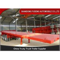 Tri-axle 50Tons flatbed container  trailer truck for Carry container , hoses , cement bags