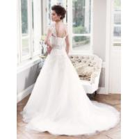 Buy cheap China 2014 Latest A-Line Lace/Tulle Train Hotel Bridal Wedding Dress from wholesalers