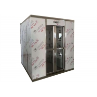 Buy cheap Pharmaceutical Modular Clean Room Air Shower Tempered Glasses Double Doors Interlock product