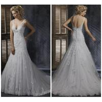 Buy cheap Latest sleeveless V-neck W-445 wedding gown from wholesalers