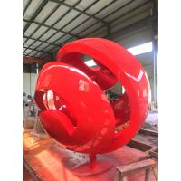 Buy cheap Outdoor ornaments statues, Public Art Sculpture Red Baking Varnish from wholesalers