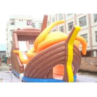 Buy cheap Huge Commercial 0.55mm Tarpaulin Inflatable Pirate Ship Slide For Adults from wholesalers