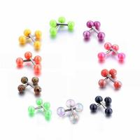 Buy cheap Candy Color Stud Earrings Double Ball Sided Earrings for Women Ear Jewelry from wholesalers