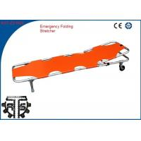 Buy cheap CE Certified Aluminum Folding Stretcher Foldable for Sports Ground Rescue from wholesalers