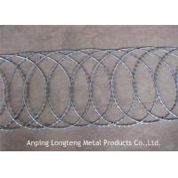 Buy cheap Hot Dipped Galvanized Razor Concertina Barbed Wire , Flat Wrap Razor Wire from wholesalers