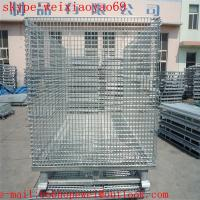 Buy cheap warehouse metal storage cage on wheels/security cage/pallet cage/industrial storage cabinets/metal bin from wholesalers