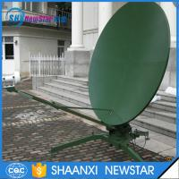 Buy cheap 2.4m c/ku band dual reflectors TxRx manual portable parabolic satellite dish antenna from wholesalers