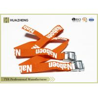 Buy cheap Orange Elastic Nylon Cargo Straps With Mental Buckle Eco-Friendly from wholesalers