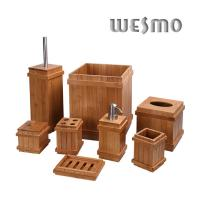 Buy cheap Classic Rome Pillar Shape Natural Bamboo Bathroom Sets and Accessories from wholesalers