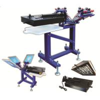 Buy cheap hot sale entry level Garment  manual carousel screen printing presses for t-shirt from wholesalers