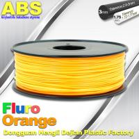 Buy cheap Eco Friendly ABS 3D Printer Filament 1.75mm Fluro Orange 3D Printing Filament product