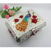 Buy cheap Shinny Gifts Metal Jewelry Box Earring Storage Box for Wedding Gifts&Desktop Decoration from wholesalers