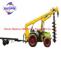 Buy cheap Cost effective wholesale tractor post hole digger pole erection machine from wholesalers