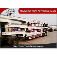 Buy cheap Excavator Transport Low Bed Trailer Truck  3 X 13 Ton Axle Mechanical Suspension from wholesalers