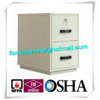 Buy cheap Waterproof Fire Resistant File Cabinets , Fire Safe File Cabinet With 2 Drawer from wholesalers