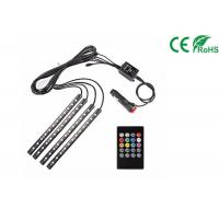 Buy cheap Car LED Strip Light Kit 4pcs DC 12V Multi Color Music Light With Sound Active from wholesalers