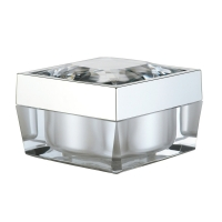 Buy cheap Square Acrylic PMMA PP 15g 30g 50g Cosmetic Packaging Jars from wholesalers