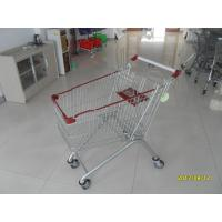 Buy cheap Zinc Plating 125L Grocery Store Shopping Carts , Grocery Cart With Wheels from wholesalers