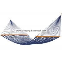 Porch Blue Rope Hammock XXL Family Size With Deluxe 65 Inches Spreader Bars