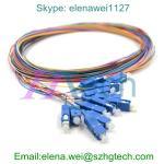 Buy cheap SC Fibre Optic Cabling Pigtails Singlemode 12 Core from wholesalers