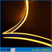 Buy cheap hot sale 110V double side emitting yellow led neon flexible strip for outdoor from wholesalers