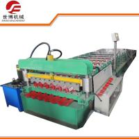 Buy cheap Color Coated Corrugated Sheet Roll Forming Machine , Metal Roofing Roll Former from wholesalers