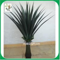 Buy cheap UVG PLT09 wholesale everygreen PU tropical plant potted sisal hemp fake outdoor plants from wholesalers