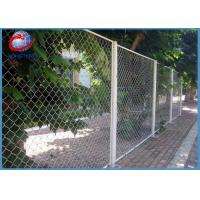 Buy cheap Galvanized Chain Link Fence Panels For Commercial Grounds / Private Grounds from wholesalers
