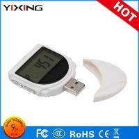 Buy cheap USB Pocket 3D Pedometer Fitness Activity Tracker ABS White Calorie Counter With 7 Days Memory from wholesalers