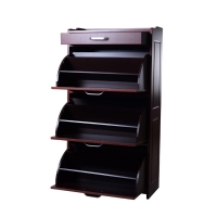 Buy cheap Three Layer European 120*63*30cm Melamine MDF Mirrored Shoe Cabinet from wholesalers