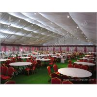 Buy cheap Decorated Backyard / Garden Big Wedding Tents High Strength For 1000 People from wholesalers