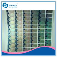 Buy cheap Dot Matrix Hologram Stickers On Rolls , Blue Laser Cut Vinyl Stickers from wholesalers