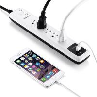 Buy cheap 5- Outlet Surge Protector Electrical Power Strip 6ft Cord with Dual Smart USB Ports for TV , Laptop from wholesalers