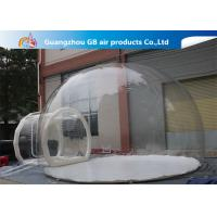 Buy cheap 0.7mm Transparent Pvc Inflatable Camping Bubble Tent With Floor CE UL EN14960 product