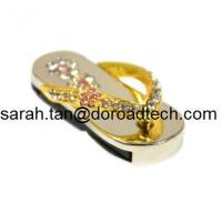 Buy cheap Hot Diamond Jewelry Slipper Shape USB Flash Drives, High Quality Jewelry Slipper USB from wholesalers