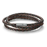 Buy cheap Handmade Braided Leather Wrap Bracelet With Stainless Steel Magnetic Clasp from wholesalers