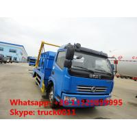 Buy cheap Dongfeng 4x2 6cbm hydraulic arm roll garbage truck for sale,2019s best price new swing arm garbage truck for sale from wholesalers