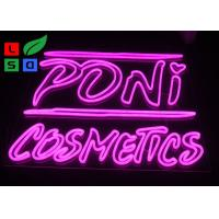 Buy cheap DC12V Voltage Pink Color Dual Lines Customized Made LED Neon Sign For Interior Shop Signage from wholesalers