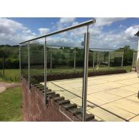 Buy cheap Stainless Steel Post for Glass Railing/ Glass Balustrade for Exterior Using product