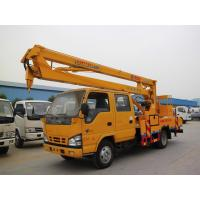 Buy cheap ISUZU Double Row Aerial Lift Truck 130hp 16 Meters Hydraulic Platform Truck from wholesalers