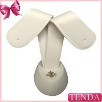 Buy cheap Creative White Leather Pendants Earrings Holders Tree Jewellery Prop Support from wholesalers