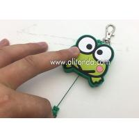 Buy cheap Cartoon frog animal shape retractable pvc wrap badge reels custom with key chains from wholesalers